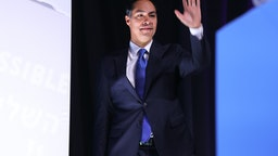 WASHINGTON, DC - OCTOBER 28: Democratic presidential candidate and former housing secretary Julian Castro takes the stage during the J Street National Conference at the Walter E. Washington Convention Center October 28, 2019 in Washington, DC. Castro and three other presidential candidates were interviewed about Israel and U.S. foreign policy during the conference hosted by J Street, a political action committee that supports two-state solution to the Israeli-Palestinian conflict. (Photo by Chip Somodevilla/Getty Images)