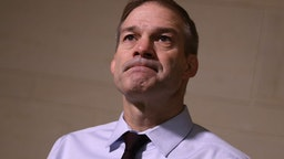 Rep. Jim Jordan (R-OH) talks to reporters before heading into a closed door hearing of the House Intelligence, Judiciary and Foreign Affairs committees at the U.S. Capitol November 06, 2019 in Washington, DC.