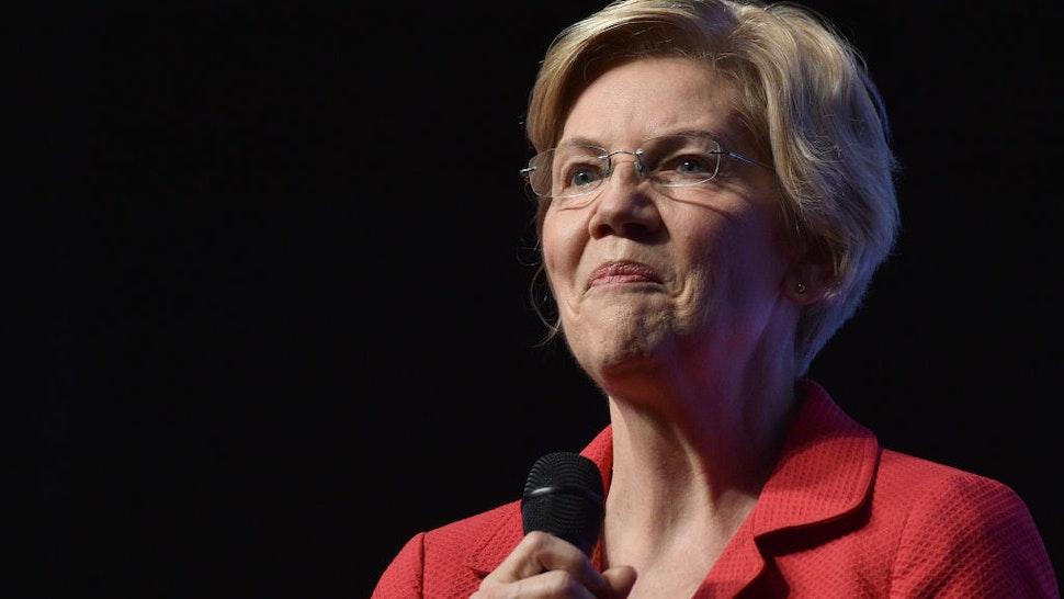 "Democratic presidential candidate, U.S. Sen. Elizabeth Warren (D-MA) speaks during the Nevada Democrats' ""First in the West"" event at Bellagio Resort & Casino on November 17, 2019 in Las Vegas, Nevada."