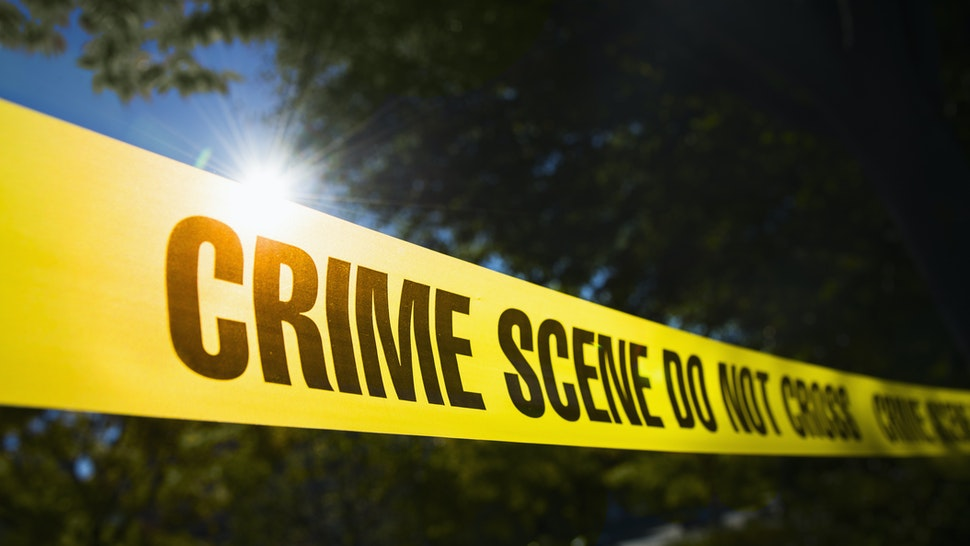 USA, New York State, New York City, Crime scene barrier tape - stock photo