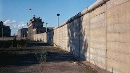 Berlin Wall near Brandenburg Gate.