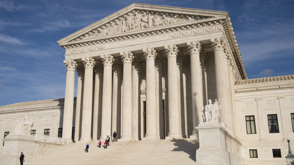 The US Supreme Court is seen in Washington, DC, on January 31, 2017. - President Donald Trump was poised Tuesday to unveil his pick for the US Supreme Court, a crucial appointment that could tilt the bench to conservatives on deeply divisive issues such as abortion and gun control. Trump's choice aims to fill a vacancy left by the sudden death of conservative justice Antonin Scalia in February 2016, which left the highest US court with four conservative and four liberal justices. (Photo by SAUL LOEB / AFP) (Photo credit should read SAUL LOEB/AFP via Getty Images)