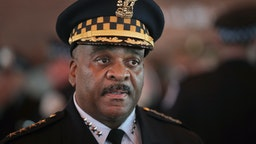 Chicago Police Superintendent Eddie Johnson attends a police academy graduation and promotion ceremony in the Grand Ballroom at Navy Pier on June 15, 2017 in Chicago, Illinois. Several civil rights organizations have filed a federal lawsuit against the city of Chicago seeking federal oversight of changes in the Chicago Police Department following repeated accusations of civil rights violations by officers in the department. (Photo by Scott Olson/Getty Images)