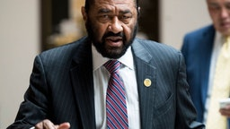 UNITED STATES - NOVEMBER 7: Rep. Al Green, D-Texas, arrives for the House Democrats' caucus meeting in the Capitol on Tuesday, Nov. 7, 2017.