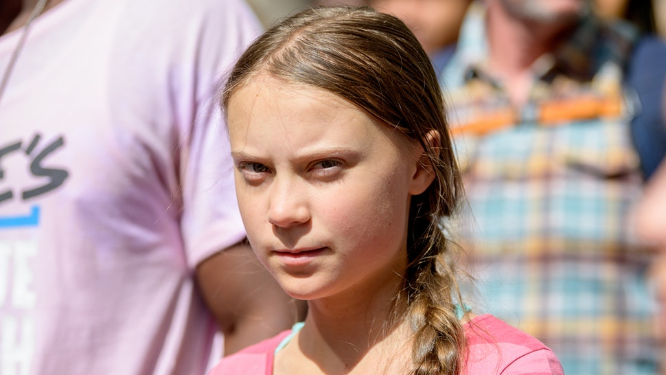 Activist Greta Thunberg Leads the Youth Climate Strike on September 20, 2019 in New York City.