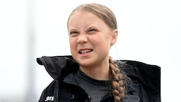 Climate change activist Greta Thunberg speaks at a press conference before setting sail for New York in the 60ft Malizia II yacht from Mayflower Marina, on August 14, 2019 in Plymouth, England. Greta Thunberg is a teenage activist born in Sweden in 2003. She began protesting outside the Belgian Parliament aged 15 and started the School Strike for Climate movement which has gained global popularity seeing school students campaigning against Climate Change on Fridays instead of attending their lessons. Greta has stopped flying as the aviation industry is responsible for 12% of CO2 emissions from all forms of transports. Once in New York she will attend a climate change conference.