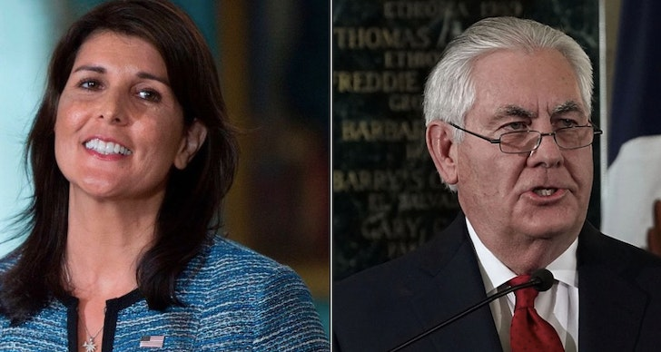 Nikki Haley and Rex Tillerson