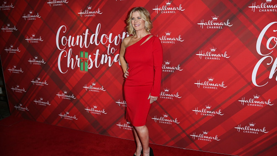 """LOS ANGELES, CA - DECEMBER 04: Actress Alison Sweeney attends the Hallmark Channel's Countdown To Christmas Celebration and VIP screening of """"Christmas At Holly Lodge"""" at The Grove on December 4, 2017 in Los Angeles, California."""