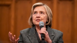 Hillary Clinton spoke during a book event promoting her new book