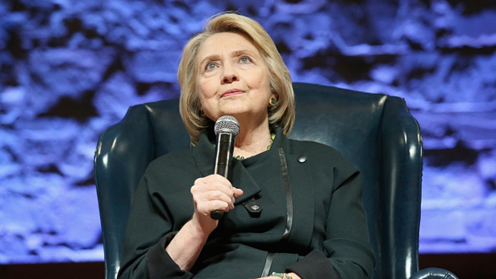 """AUSTIN, TEXAS - NOVEMBER 03: Hillary Rodham Clinton attends """"Hillary & Chelsea Clinton: A Conversation on """"The Book Of Gutsy Women"""" at Riverbend Center on November 3, 2019 in Austin, Texas."""