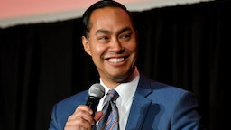 Julian Castro speaks on stage during the 2019 New Yorker Festival