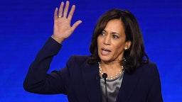 Kamala Harris speaks during the third Democratic primary debate