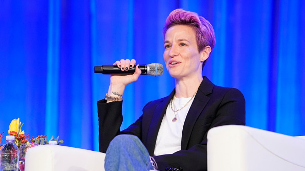 AUSTIN, TEXAS - OCTOBER 24: Two-time World Cup Champion, and co-captain of the US Women's National Team Megan Rapinoe speaks on stage during Texas Conference For Women 2019 at Austin Convention Center on October 24, 2019 in Austin, Texas.