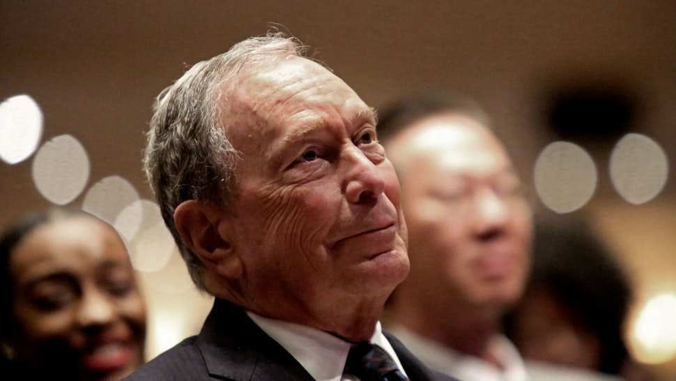 Michael Bloomberg prepares to speak at the Christian Cultural Center