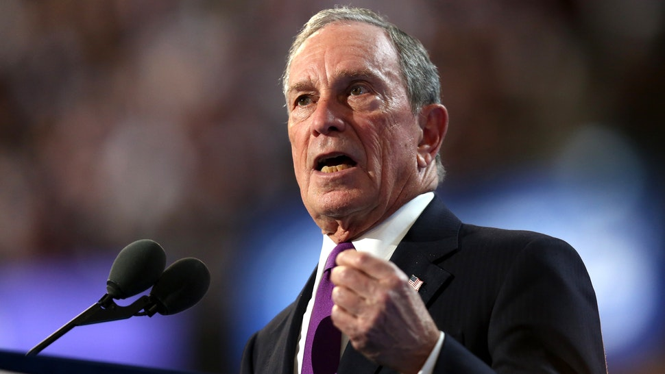 PHILADELPHIA, PA - JULY 27: Former New York City Mayor Michael Bloomberg delivers remarks on the third day of the Democratic National Convention at the Wells Fargo Center, July 27, 2016 in Philadelphia, Pennsylvania. Democratic presidential candidate Hillary Clinton received the number of votes needed to secure the party's nomination. An estimated 50,000 people are expected in Philadelphia, including hundreds of protesters and members of the media. The four-day Democratic National Convention kicked off July 25.