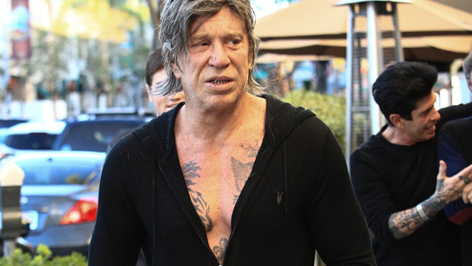 Actor Mickey Rourke Sa...
