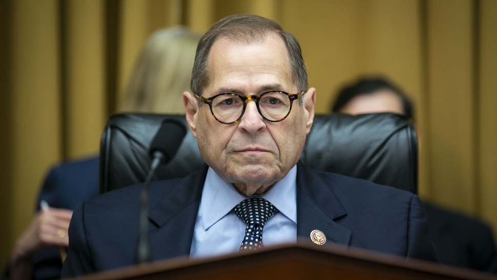 """Representative Jerry Nadler, a Democrat from New York and chairman of the House Judiciary Committee, sits during a hearing in Washington, D.C., U.S., on Tuesday, Sept. 17, 2019. Corey Lewandowski, former campaign manager for U.S. President Donald Trump, promised to """"be as sincere in my answers as the committee is in its questions"""" in a combative opening statement challenging the Committee's investigation of the president and his associates."""