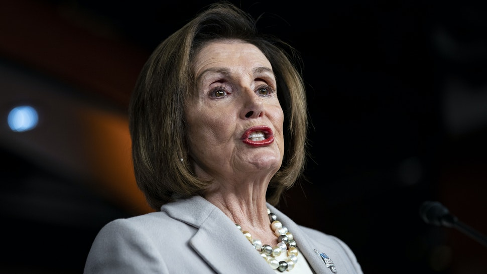 """U.S. House Speaker Nancy Pelosi, a Democrat from California, speaks during a news conference on Capitol Hill in Washington, D.C., U.S. on Thursday, Oct. 17, 2019. Pelosisaid Thursday that she has """"no idea"""" whether the House impeachment inquiry and a Senate trial could be wrapped up by the end of the year."""