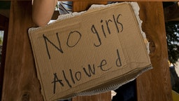 Boys with no girls allowed sign