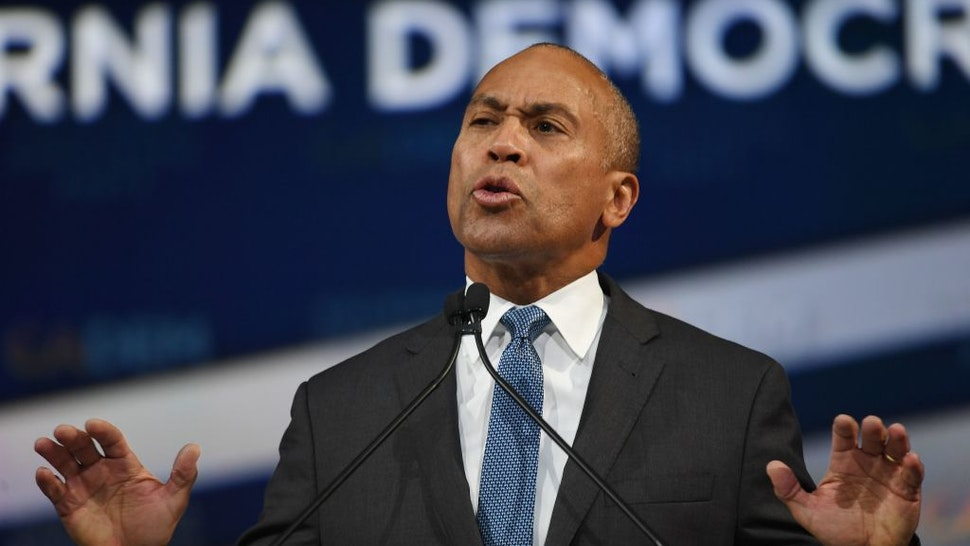 Deval Patrick speaks as he kicks off his presidential campaign at the California Democratic Party
