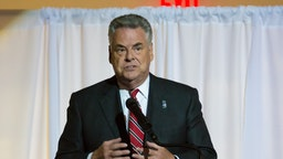 Congressman Peter King attends the 2016 Firefighters Humanitarian Awards at the Nassau County Firefighters Museum on October 14, 2016 in Garden City, New York. (Photo by Steven A Henry/Getty Images)