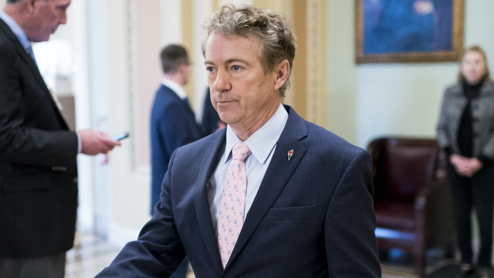 Sen. Rand Paul, R-Ky., leaves the Senate floor after a vote in the Capitol on Wednesday, Oct. 30, 2019.