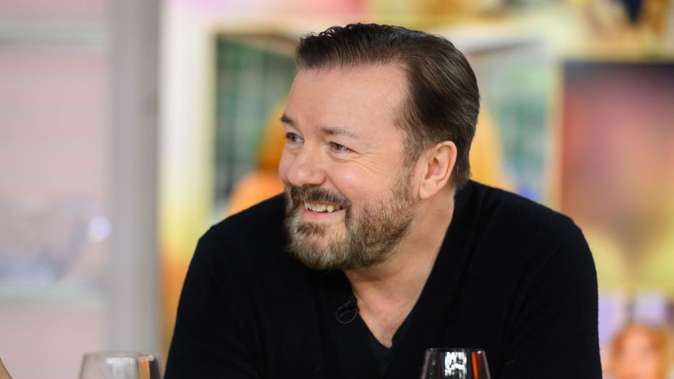 Ricky Gervais on Tuesday, March 12, 2019 -- (Photo by: Nathan Congleton/NBC/NBCU Photo Bank)