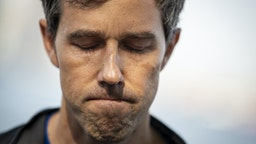 Democratic presidential candidate and former U.S. Rep. Beto O'Rourke speaks to the press after taking part in a Pride month run, June 12, 2019 in New York City. On Wednesday, O'Rourke pledged to reverse President Donald Trump's restrictions on transgender people serving in the military and push for passage of the Equality Act if elected president.
