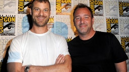 "SAN DIEGO, CA - JULY 22: Writers/producers Trey Parker (L) and Matt Stone attend Comedy Central ""South Park 20"" during Comic-Con International 2016 at San Diego Convention Center on July 22, 2016 in San Diego, California."