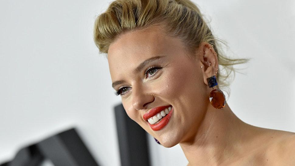 "LOS ANGELES, CALIFORNIA - NOVEMBER 05: Scarlett Johansson attends the Premiere of Netflix's ""Marriage Story"" at DGA Theater on November 05, 2019 in Los Angeles, California."