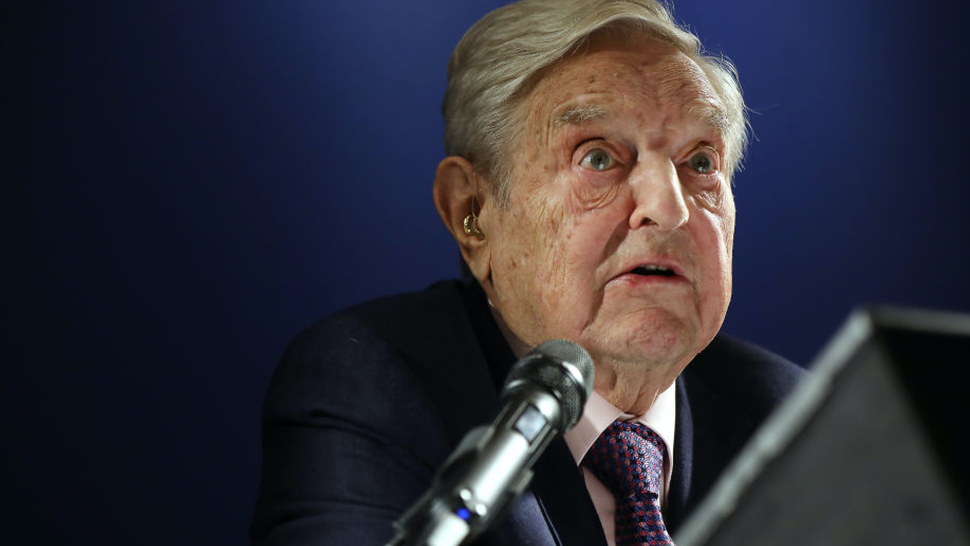 George Soros, billionaire and founder of Soros Fund Management LLC, speaks at an event on day three of the World Economic Forum (WEF) in Davos, Switzerland, on Thursday, Jan. 24, 2019.