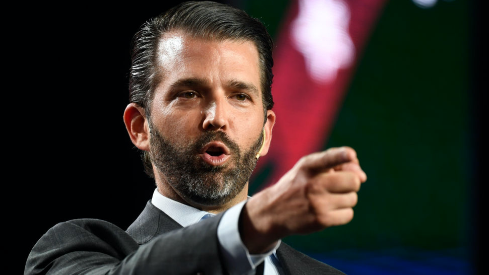 Donald Trump Jr. speaks at the Western Conservative Summit at the Colorado Convention Center July 12, 2019.