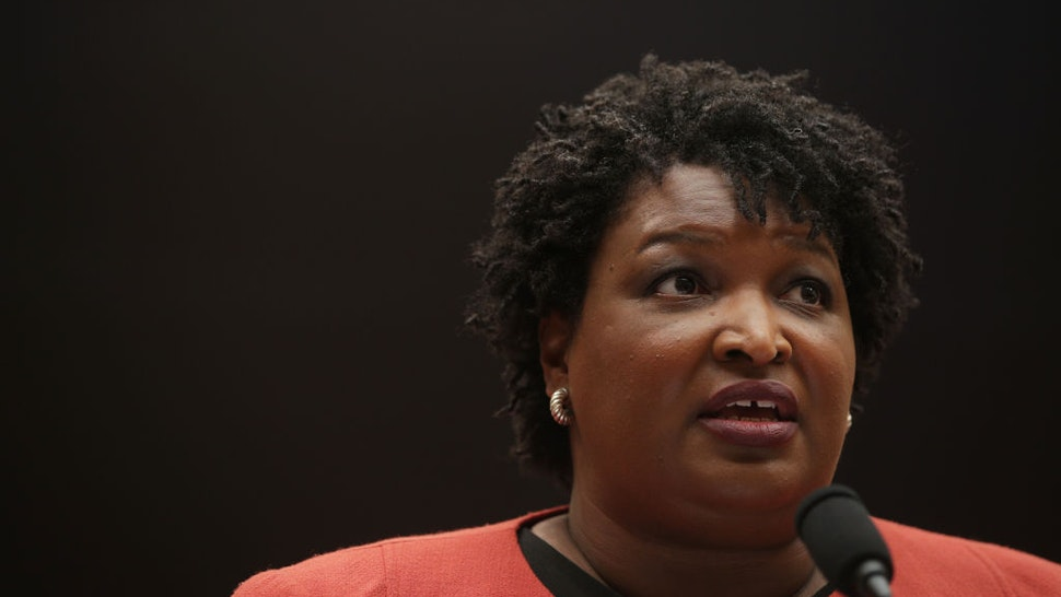 Stacey Abrams testifies during a hearing before the Constitution, Civil Rights and Civil Liberties Subcommittee