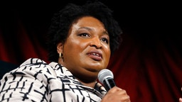 Stacey Abrams speaks during Invest In Brooklyn Dinner at The Weylin