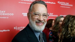 """Tom Hanks attends """"A Beautiful Day In The Neighborhood"""" New York Screening at Henry R. Luce Auditorium at Brookfield Place on November 17, 2019 in New York City. (Photo by Dominik Bindl/FilmMagic)"""