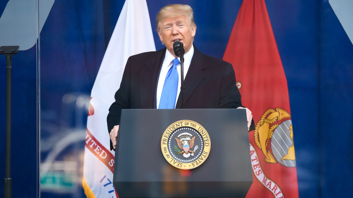 Trump Recounts Heroic Story From Battle Of The Bulge In WWII During Veteran's Day Tribute