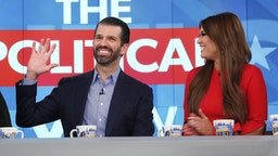 "Donald Trump Jr. and Kimberly Guilfoyle appeared today, Thursday, November 7, 2019 on ABC's ""The View,"" as the show celebrated its 5,000th episode. ""The View"" airs Monday-Friday 11am-12 noon, ET on ABC."