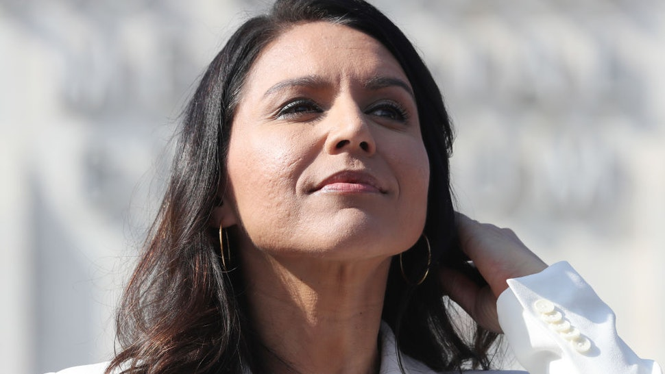 Tulsi Gabbard attends the inaugural Veterans Day L.A. event held outside of the Los Angeles Memorial Coliseum