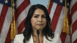 Democratic presidential candidate Rep. Tulsi Gabbard (D-HI) speaks during a press conference at the 9/11 Tribute Museum in Lower Manhattan on October 29, 2019 in New York City. Gabbard called for the U.S. Department of Justice and the FBI declassify and release 9/11 investigative documents that she claims would implicate the Kingdom of Saudi Arabia in the 2001 terrorist attacks.