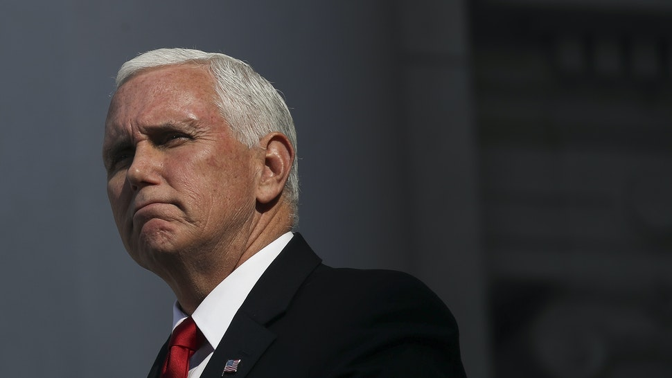 U.S. Vice President Mike Pence delivers remarks at a Veterans Day event at Arlington National Cemetery on November 11, 2019 in Arlington, Virginia. On Monday, the United States is observing Veterans Day, a federal holiday that honors Americans who served in the U.S. military.