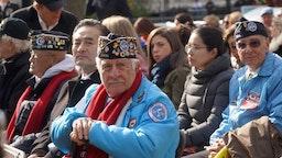 U.S. Veterans attend the Veterans Day Parade on November 11, 2019 in New York City.