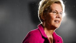 Elizabeth Warren speaks at a campaign event at Clark Atlanta University
