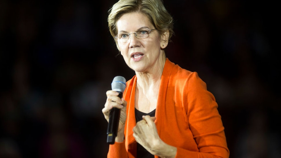 Elizabeth Warren speaks during a town hall event