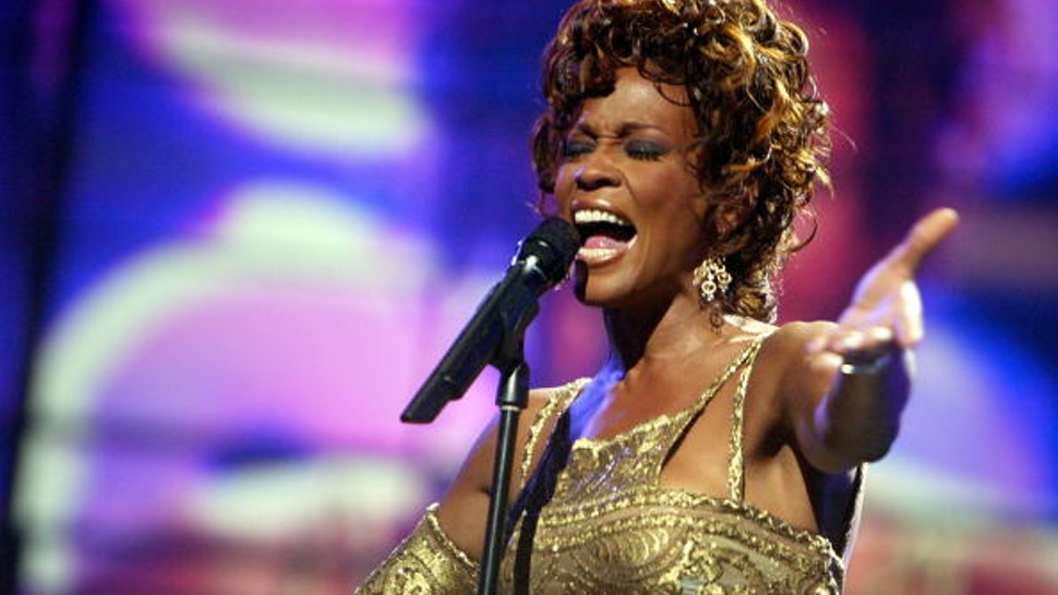 LAS VEGAS, NV ? SEPTEMBER 15: Singer Whitney Houston is seen performing on stage during the 2004 World Music Awards at the Thomas and Mack Center on September 15, 2004 in Las Vegas, Nevada.