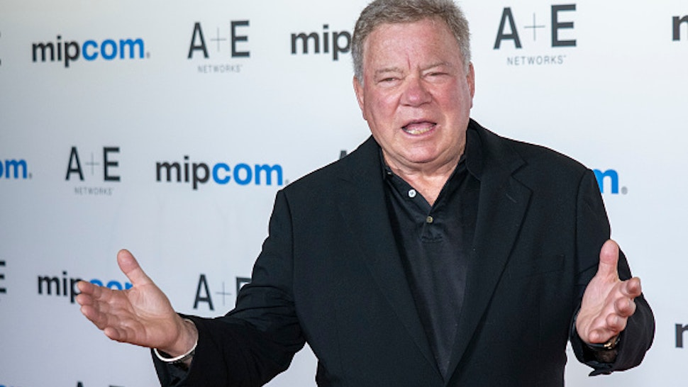 CANNES, FRANCE - OCTOBER 14: William Shatner attends the opening ceremony of MIPCOM 2019 on October 14, 2019 in Cannes, France.