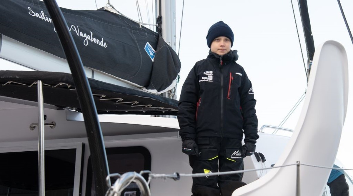 Climate Activist Greta Thunberg Heads To Spain On Yacht Made From Petroleum Products