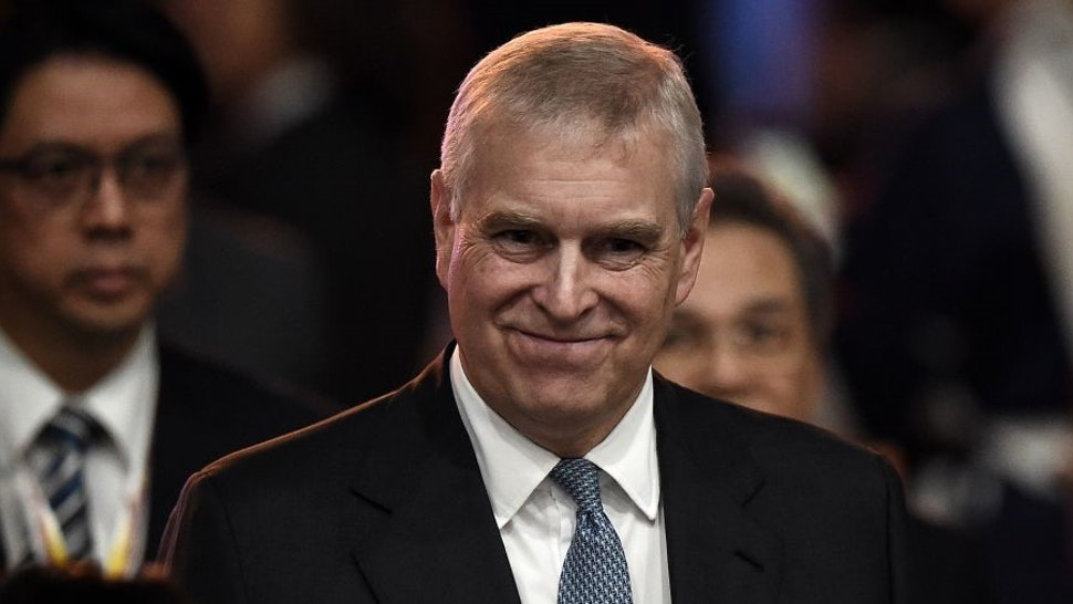 Britain's Prince Andrew, Duke of York leaves after speaking at the ASEAN Business and Investment Summit in Bangkok on November 3, 2019, on the sidelines of the 35th Association of Southeast Asian Nations (ASEAN) Summit. (Photo by Lillian SUWANRUMPHA / AFP) (Photo by