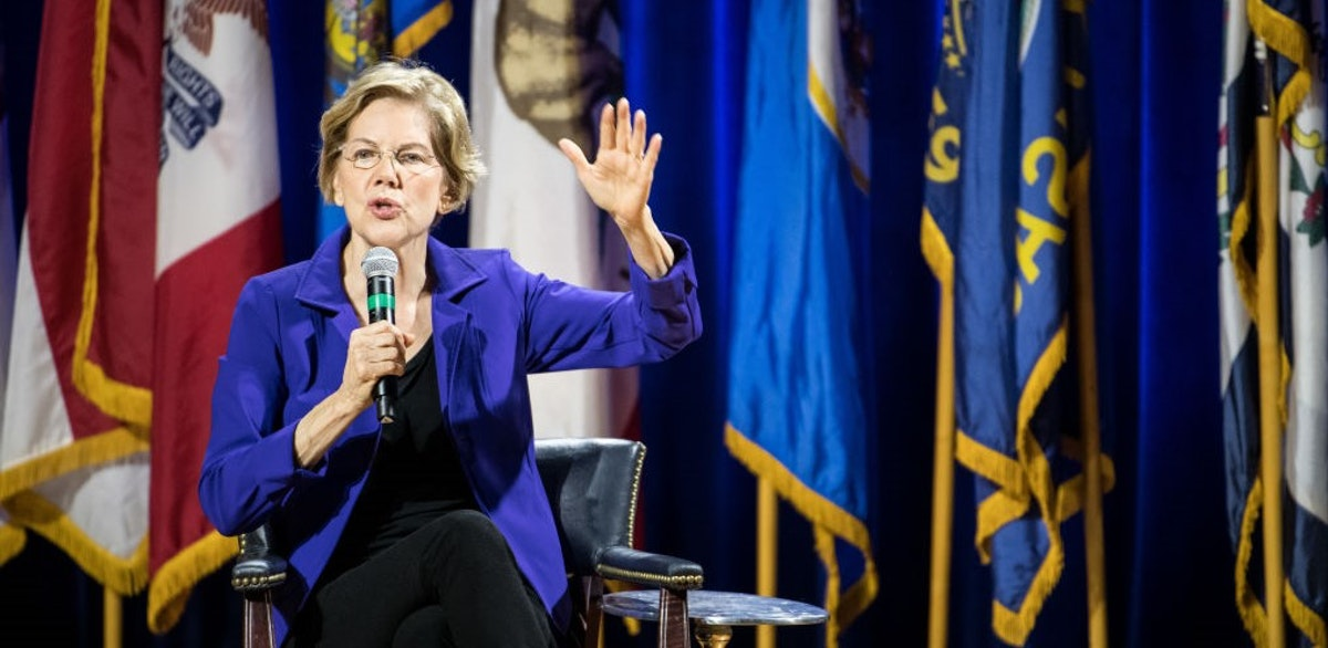 Warren Plays To Nearly Empty Hall As Enthusiasm Wanes For Democratic Candidates