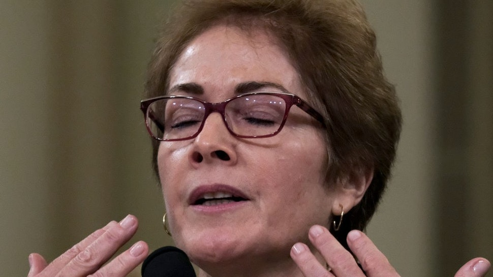 Ambassador Marie Yovanovitch describes color draining from her face during testimony for the impeachment inquiry of President Donald Trump in Washington, D.C. on November 15, 2019.