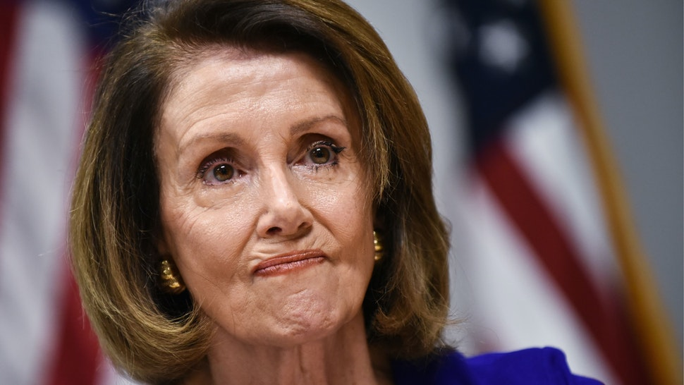 House minority leader Nancy Pelosi, D-CA, speaks during a press conference at Democratic National Committee headquarters in Washington, DC on November 6, 2018.